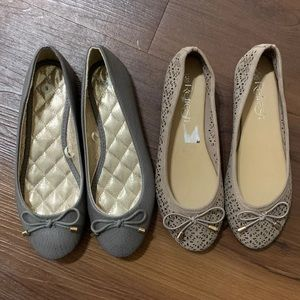 2 pairs of ballet flats